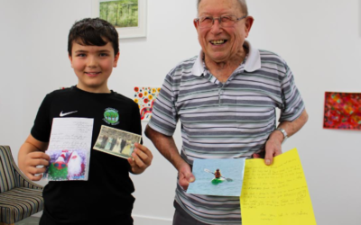 78 years apart – pen pals bridge the gap between young and old thanks to St B's Schools Project